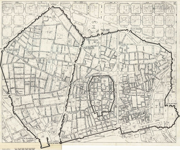 Map of Medieval Barcelona
